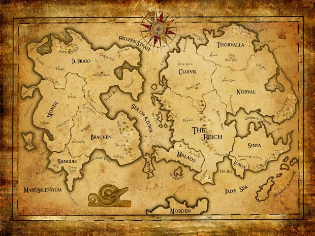 Карта мира Thorvalla